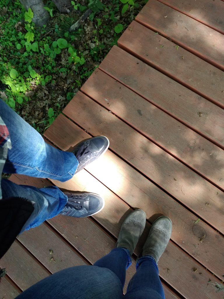 narzeczeni w dniu ślubu na ostatniej narzeczeńskiej randce